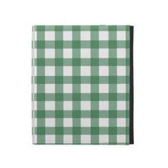 Green Gingham iPad Case
