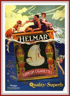 f-featherbrain:  designstroy:  (via carlylehold)  1918, Helmar Cigarettes