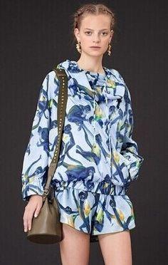 Morpheus Boutique  - Blue Floral Pattern Long Sleeve 2 Pieces Suit Top Short, CA$102.55 (http://morpheusboutique.com/new-arrivals/blue-floral-pattern-long-sleeve-2-pieces-suit-top-short/)