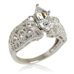 Xavier 3.1ct Absolute™ Marquise Milgrained Ring