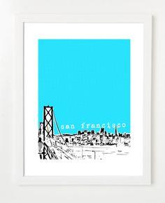 City Skyline Posters  by birdAve Shoppe