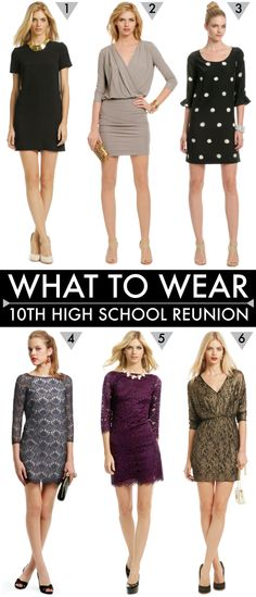 {what to wear to a high school reunion}