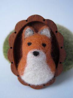 Fox Brooch -