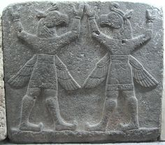 Karkamış (Kargamiš, Karkemish, Carchemish)  Herald's Wall  winged griffins carrying the firmament