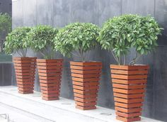 Plastic Wood Flower Boxes Wholesale Wood Plastic Plant Boxes That Look Like Wood Park Garden Plaza Vasos De Madeira Criacoes De Madeira Cachepot De Madeira