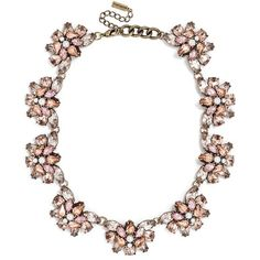 BaubleBar Crystal Flutter Collar ($48) ❤ liked on Polyvore featuring jewelry, necklaces, rose necklace, pearl jewelry, rose jewelry, pearl necklace and white pearl necklace