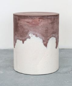 Drum collection by Amma Studio Materials they experimented with include rock salts, silica, sand and BB pellets, all in a range of colours, as well as coffee grounds.