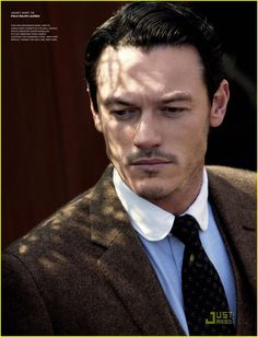 "Luke Evans - fashion shoot titled ""The Tycoon"" for VMAN's September ""The Archetype"" issue"