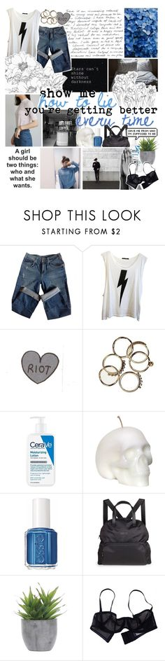 """""""nothing more to say"""" by everything-is-peachy ❤ liked on Polyvore featuring Sandro, Wildfox, CeraVe, Essie, Titika, Lux-Art Silks and Eres"""