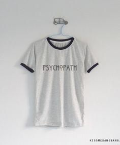 Psychopath_Ringer Tee_Grey