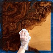Projects Online Faux Finishes A Burled Wood Panel Recycle Reuse