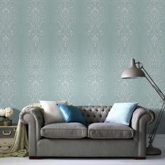 This dramatic damask is a great way to add a fabulous and striking effect to any room. It uses subtle embellishments such as glitter and mica to produce a truly glamourous finish. Will make an ideal addition to any room in your home for a timeless look.
