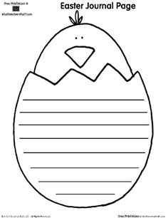 {FREE} Easter writing and shape book pages