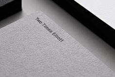 Corporate stationery by studio Two Times Elliott _