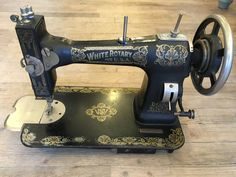 white rotary electric sewing machine model number 43