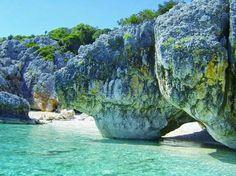 Secluded beach in Kefalonia