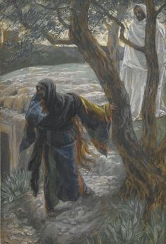 Jesus Appears to Mary Magdalene by James Tissot {c.1886-94}