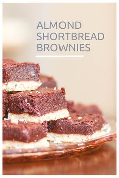 Almond Shortbread Brownies. Rich fudgy brownies on a nutty buttery shortbread crust. From Blossom To Stem   Because Delicious www.blossomtostem.net