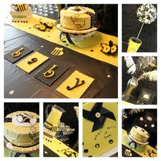 Sharnel D's Baby Shower / Bee themed gender reveal - Photo Gallery at Catch My Party Baby Shower Parties, Baby Shower Themes, Baby Showers, Shower Party, Shower Ideas, Bridal Shower, Bee Gender Reveal, Baby Shower Gender Reveal, Mommy To Bee