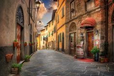 Photo Memories from Toscana by László Gál on Beautiful Streets, Southern Europe, Photo Memories, Store Fronts, Explore, City, Places, Travel, Photograph