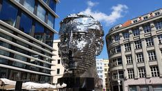 """One of David Cerny's creations. Kafka's Head behind the Quadrio Shopping Centre in the New Town. Look for the """"Narodni Trida"""" metro station on the map. Bizarre Stories, Bizarre Art, West Berlin, Berlin Wall, Prague Attractions, Prague City, Chicago Museums, Metro Station, Museum Of Contemporary Art"""
