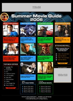ENTERTAINMENT TONIGHT -- Summer Movie Guide minisite