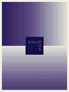 Sigur Ros gig poster design by Jason Munn Gig Poster, Typography Poster, Poster Prints, Jason Munn, Band Posters, Cool Posters, Music Posters, Sigur Ros, San Francisco