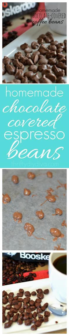 A yummy coffee recipe treat! Homemade Chocolate Covered Coffee Espresso Beans - save money and make this recipe yourself at home! Add this to your coffee dessert recipes collection!