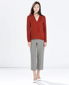Image 1 of KIMONO COLLAR SHIRT from Zara