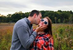 fall engagement photo ❤️ http://kristinboylephotography.com/ laid back with some shades on 😎