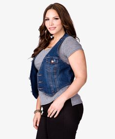 Ashley Stewart Women's Plus Size Fur Collar Denim Jacket | Jean