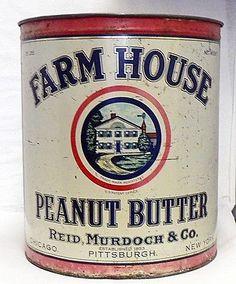 Old farm house peanut butter 55 lb. tin can