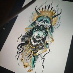 Tattoo Sketches, Drawing Sketches, Tattoo Drawings, Art Drawings, Kunst Tattoos, Body Art Tattoos, Typographie Inspiration, Dark Tattoo, Neo Traditional Tattoo