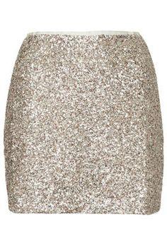 Twinkle Sequin Pelmet Skirt - Clothing