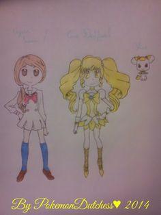 Cure Daffodil and mascot