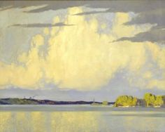 Frank H. Johnston Canadian, Serenity, Lake of the Woods, 1922 oil on canvas x cm Collection of the Winnipeg Art Gallery Canadian Painters, Canadian Artists, Emily Carr Paintings, Winnipeg Art Gallery, Ontario Travel, Group Of Seven, Landscape Artwork, Plein Air, Serenity