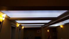 Abgehängte Decke mit Lichtleisten LED