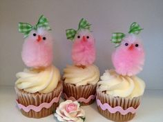 Easter Chicks Cupcake Toppers Easter Decoration by JeanKnee, $10.00