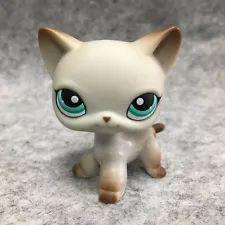 Littlest Pet Shop LPS Loose Toys #391 Green Eye Short Hair Kitty Cat