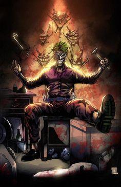 The Joker at Arkham Asylum DC Comics 11 x 17 by Wizyakuza