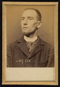 Alphonse Bertillon (French, 1853 - 1914) 'Feneon. Felix. Clerk of the Galerie…