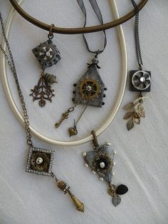 no solder charms. neat pieces by Julie Haymaker Thompson