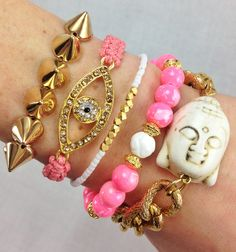 Pop of Pink Arm Candy