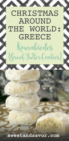 Kourabiedes (Greek Butter Cookies)Edit description