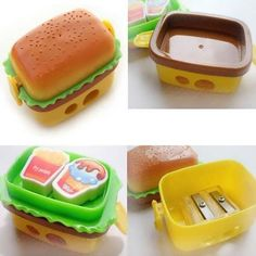 Creative Hamburger Pencil Sharpener With 2 Eraser And Pencil Cutter  What does include #goodbuy:  Enjoyable shopping at cheapest prices Best quality goods 24/7 support & easy communication 1 day products dispatch from warehouse Fast & reliable shipment (7-25 business...