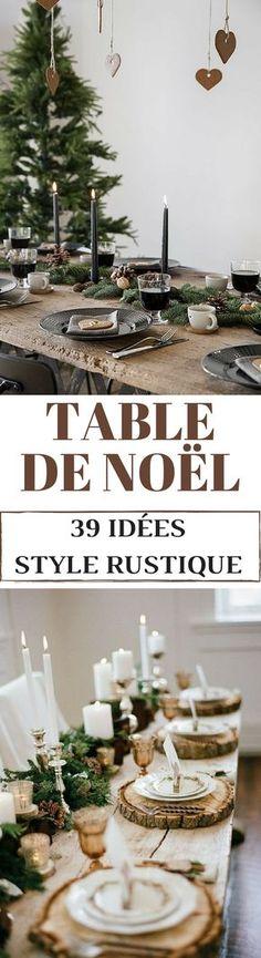 Des idées et des inspirations pour une table de Noël rustique et campagne !