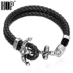 Just posted on our store: Men's Stainless S... Check it out here: http://garrysdiscountgoods.com/products/mens-stainless-steel-anchor-bracelet-genuine-handmade-braided-leather-bangle-for-men?utm_campaign=social_autopilot&utm_source=pin&utm_medium=pin