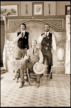 "The iconic ""Lonesome Dove"" characters Jake, Gus and Call"