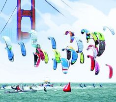 Kiteboarding the Golden Gate