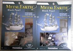 Lot Of Two (2) - Metal Earth 3D Laser Cut Black Pearl Metal Model Kits BRAND NEW…